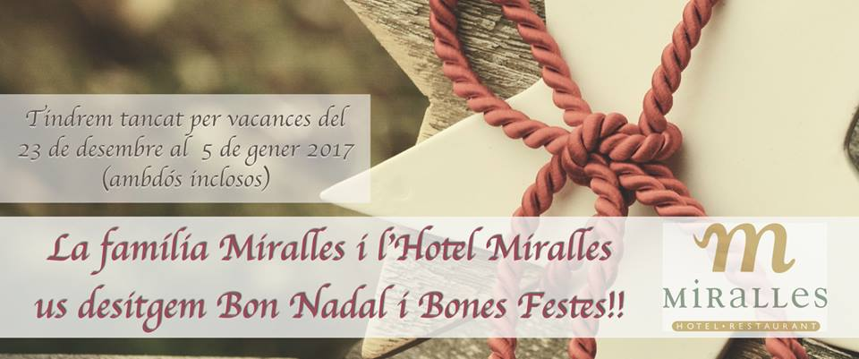 La família Miralles us desitgem BONES FESTES!